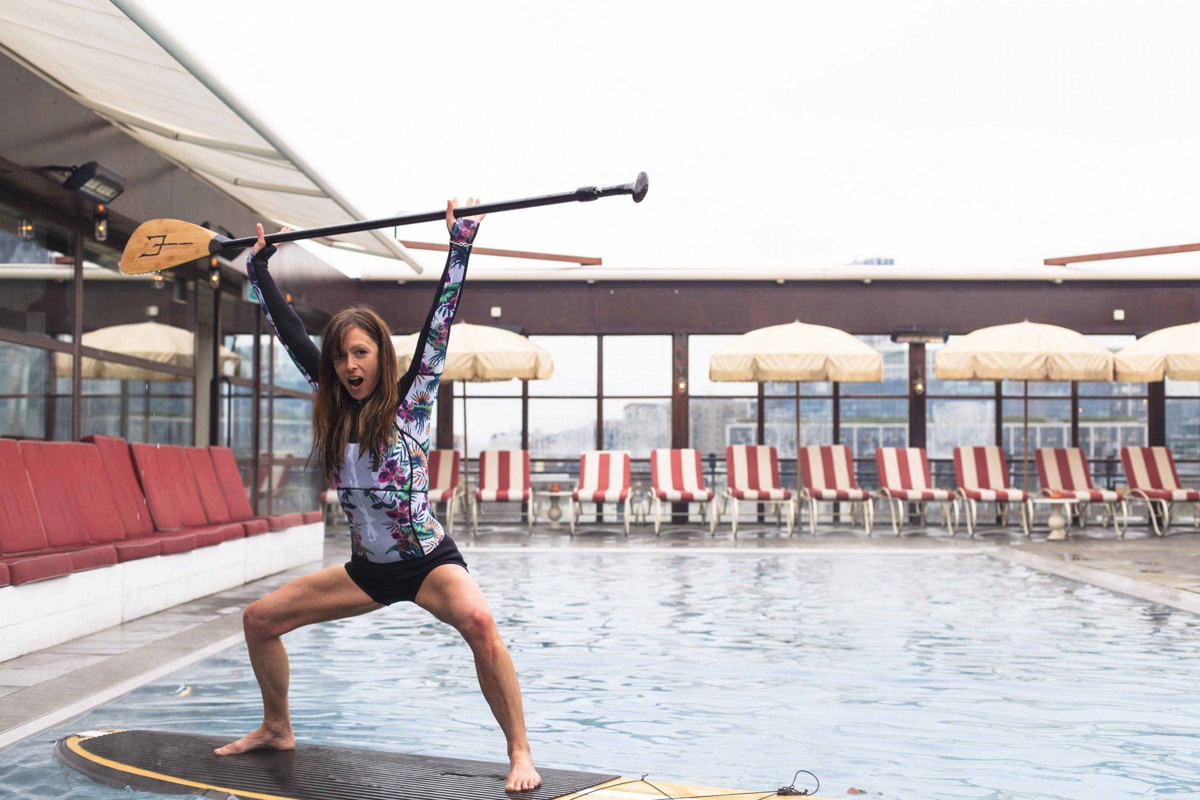 Nichola SUP Yoga Shoreditch House
