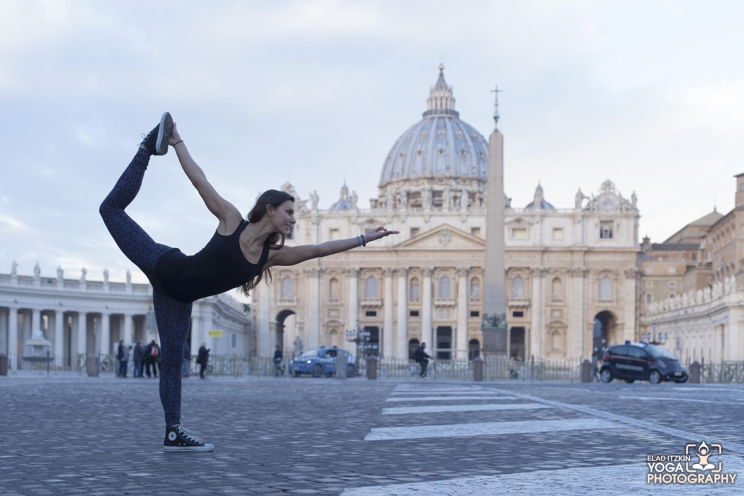 Jennifer Ursillo Yoga Photos, Rome, Italy - Elad Itzkin Yoga Photography
